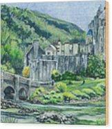 Eilean Donan Medieval Castle Scotland Wood Print