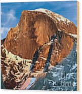 Painting Half Dome Yosemite N P Wood Print