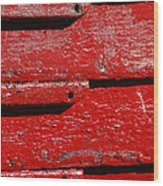 Painting It Red Wood Print