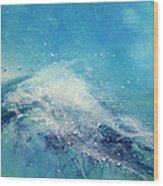 Painting Of An Ocean Wave Wood Print