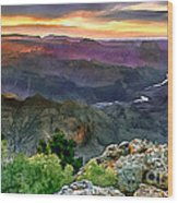 Painting Of Desert View Grand Canyon Wood Print