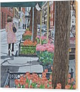 Painting The New York Street Wood Print