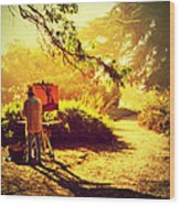 Painting The Path Wood Print