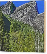Painting Three Brothers Peaks Yosemite Np Wood Print