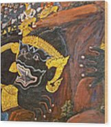 Paintings On Wall Of Middle Court Hall Of Grand Palace Of Thailand Wood Print