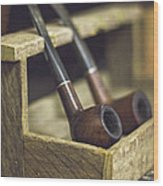 Pair Of Pipes Wood Print