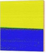 Paisaje Blue Yellow Wood Print