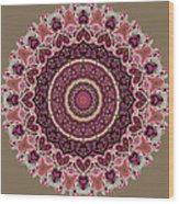 Paisley Hearts Wood Print