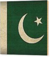 Pakistan Flag Vintage Distressed Finish Wood Print by Design Turnpike