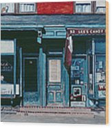 Palace Barber Shop And Lees Candy Store Wood Print