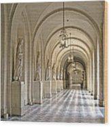 Palace Corridor Wood Print
