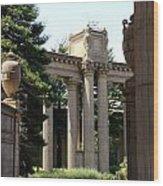 Palace Fine Arts Pillars And Urn Wood Print