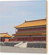 Palace Forbidden City In Beijing Wood Print