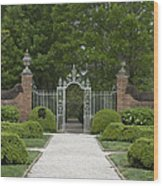 Palace Garden Gate Wood Print