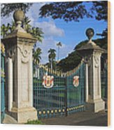 Palace Gates Wood Print