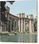 Palace Of Fine Arts Colonnades  Wood Print