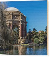 Palace Of Fine Arts In Color Wood Print