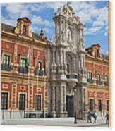 Palace Of San Telmo In Seville Wood Print