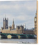 Palace Of Westminster Wood Print by Trevor Wintle