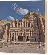 Palace Tomb In Nabataean Ancient Town Petra Wood Print