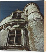 Palace Tower Of Chenonceau Wood Print