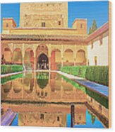 Palacio Nazaries In Alhambra Wood Print