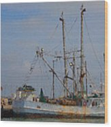 Palacios Texas Rhonda Kathleen In Port Wood Print