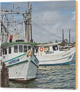 Palacios Texas Two Boats In View Wood Print