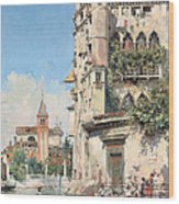 Palazzo Contarini Wood Print