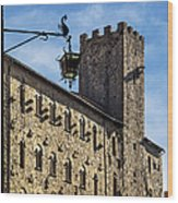 Palazzo Pretorio And The Tower Of Little Pig Wood Print