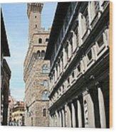 Palazzo Vecchio And Uffizien Wood Print