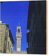 Palazzo Vecchio Clock Tower Wood Print
