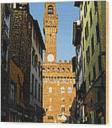 Palazzo Vecchio In Florence Italy Wood Print