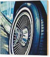 Pale Blue Rider Wood Print