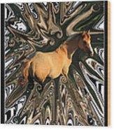 Pale Horse Wood Print by Aidan Moran