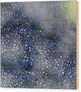 Pale Moon At Sea Wood Print