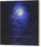 Pale Moon Wood Print