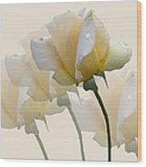 Pale Yellow Wood Print