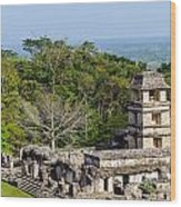 Palenque Palace Wood Print
