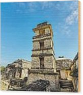 Palenque Palace Tower Wood Print