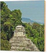 Palenque Temple Wood Print