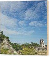 Palenque Temples Wood Print