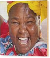 Palenquera In Cartagena Colombia Wood Print