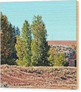 Palisades Idaho Wood Print