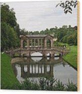 Palladian Bridge At Prior Park Landscape Garden Wood Print