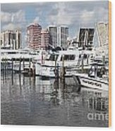 Palm Beach Docks Wood Print