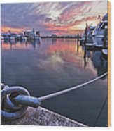Palm Beach Harbor Wood Print