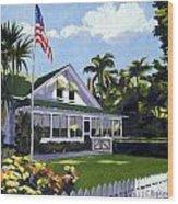 Palm Cottage Naples Florida Wood Print