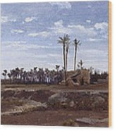 Palm Forest In Elche Wood Print