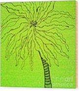 Palm Green Wood Print